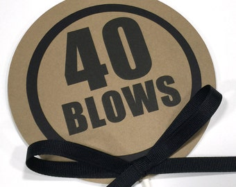40 Blows Birthday Cake Topper - Birthday Cake Decoration, Kraft Brown and Black or Your Colors