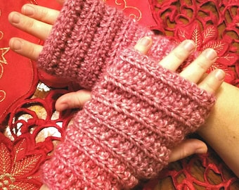 crochet fingerless gloves/mittens/hand warmer