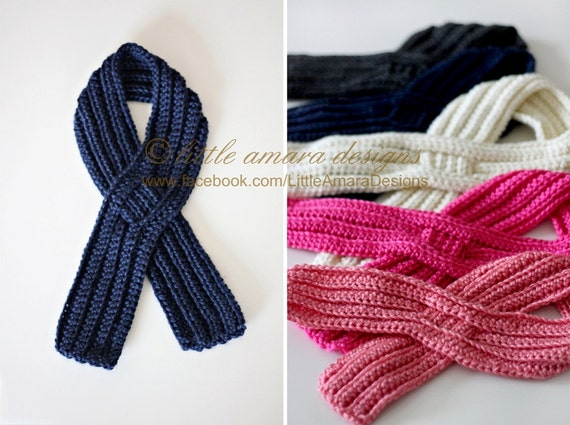Baby Toddler Kids Ribbed Keyhole Scarf Beginner Crochet Pattern From