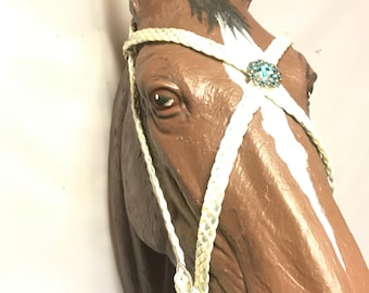 Baroque style headstall medieval horse tack bridle