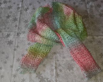 Pretty multicolor scarf made crochet