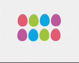 easter egg tags gift tags svg dxf jpeg png file stencil monogram frame silhouette cameo cricut clip art commercial use