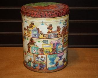 Vintage Bear Recycling Center Tin - item #2860