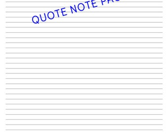 QUOTE Note Pages
