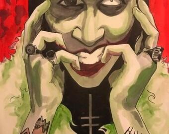 Earlier Days Marilyn Manson Painting 8x6 inch Original