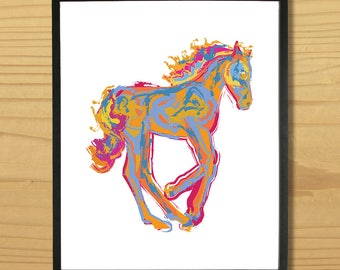Pony Wall Art, Horse Print, Baby Horse Art, Animal Print, Mustang Art, Filly Print, Foal Print, Colt Print, Digital Download