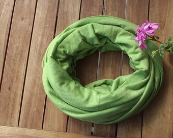 Spring Circle Scarf, Oversize Boho Scarf, Knit Jersey Scarf, Eternity Foulard, Cotton Jersey Scarf, Infinity Scarf, Spring Loop Scarf