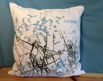 "Fort Langley ""Home""  map cushion cover"