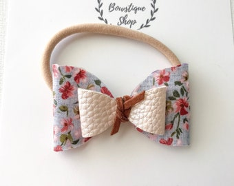 Floral Double Knotted Bow