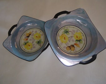 """Vintage, Meito China small  plate 6.5"""" x 6"""" SET OF TWO."""