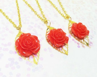 Beauty and the Beast party favor necklaces - Choose your amount