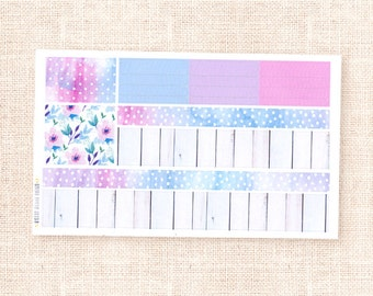 Washi sample stickers - Spring Garden collection / decorative watercolor planner stickers