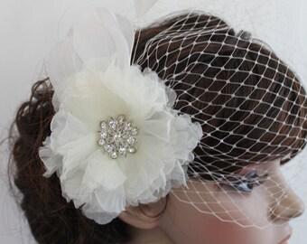 Wedding accessory veils Bridal birdcage veil Wedding birdcage veil wedding hair comb birdcage bridal Fascinators wedding veils headpieces