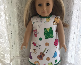 Love Girl Scouts dress for 18 inch dolls