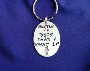 Hand stamped aluminum key ring. Positive affirmations key ring. Positive quotes. Irish made gift.