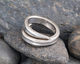 Silverware Handle Ring (Spoon Ring) Size 8 SR142