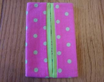 Hot Pink Polka Dots Pocket Tissue Holder