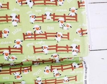 Harmony Farm - Happy Sheep Green - Shawn Wallace - Riley Blake Designs