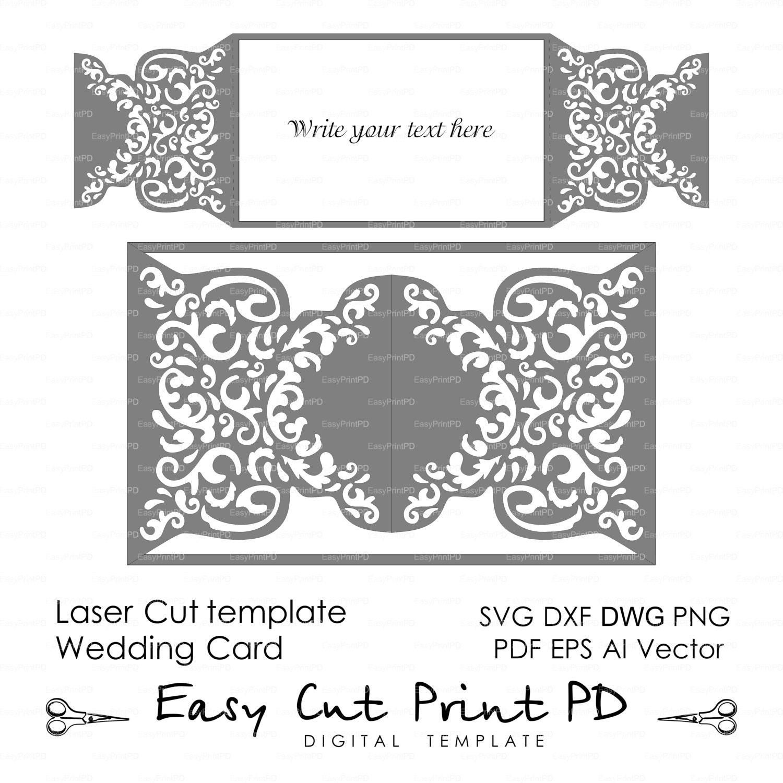 Wedding invitation Pattern Card Template shutters gates doors
