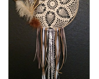 Vintage Pheasant Feathered Dreamcatcher
