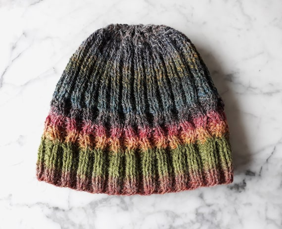 Irish wool beanie: Aran beanie hat. Beanie for him. Beanie for her. Irish wool hat. Original design. Made in Ireland. Handknit unique beanie
