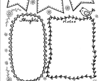 Bible Journaling Clip Art 4 pages to create fun and beautiful