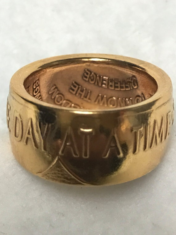 One Day at a Time Recovery Ring