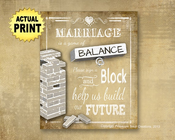 Printed wedding sign, Sign a Block Guestbook, Guestbook sign, Vintage style wedding, wood blocks sign, stacking blocks, game of balance sign