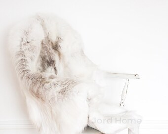 Super Rare White Reindeer Hide Throw & Rug