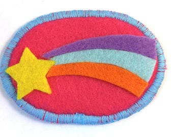 Gravity Falls Mabel Shooting Star Rainbow Badge Pin Button Patch