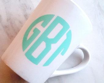 Monogrammed Mug (Medium Letters) - Monogram - Monogrammed Gifts - Monogram Gifts - Monogrammed Mug - Monogram Mug - Custom Gifts - Initials