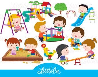 kids playground - playground clipart - 17005