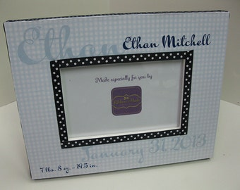 Baby Boy Personalized Birth Announcement Frame