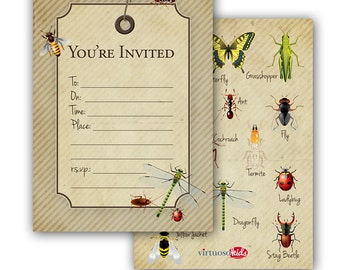 INSECT PARTY Invitation - you print