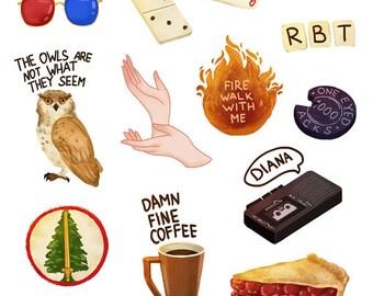 Twin Peaks stickers set А5