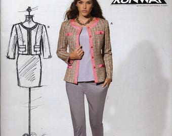 Project Runway, New Look Workroom Jacket sewing pattern, Misses sizes 8 to 18