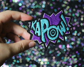Kapow Brooch, Comic Inspired Pin