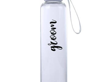 Groom Water Bottle - White Elephant Gift - Christmas Gag Gift - Holiday Gift Exchange - Stocking Stuffer - Office Party Gift - Holiday Gift