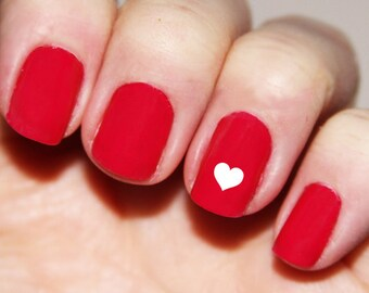 Heart Fingernail Stickers - Hearts Nail Decals Valentines