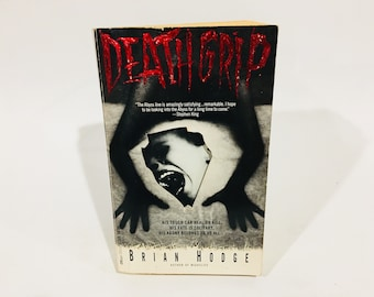 Vintage Horror Book Death Grip by Brian Hodge 1992 First Edition Paperback