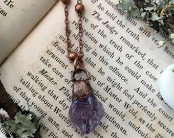 Amethyst Electroformed Necklace