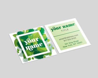 Nature Square Business Cards FREE SHIP