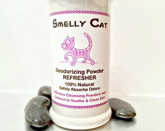 Smelly Cat™ Organic Dry Powder Deodorizing Cleansing Refresher Shampoo   Natural Dry Cat Grooming   Safe for Cats   Multi Purpose - 6.5 oz