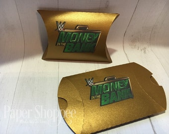 wwe pillow box favor money in the bank