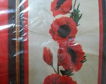 Poppy kits etsy on sale columbia minerva needlepoint kit poppies 1550 mightylinksfo