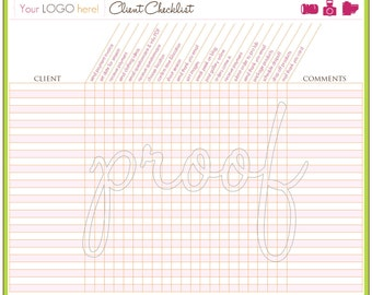 Personalized Business Client Checklist Printable
