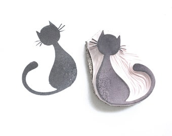 Kitty Cat Rubber Stamp | 016090