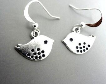 Bird Earrings Silver Bird Earrings, Dangle Earrings, Dangle Earrings Birds Earrings