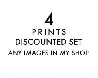 print set, 4 fine art prints, choose your prints, California decor, wall art, home decor, 5x7 8x10 11x14, custom print set, discount prints