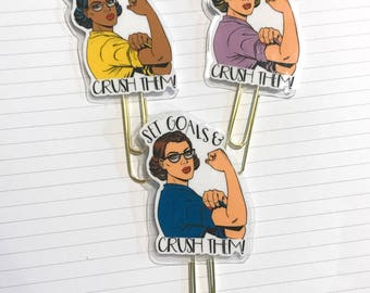 Crush Goals paperclips! Perfect for Planners, Notebooks, Flip Books and Pocket Letters!